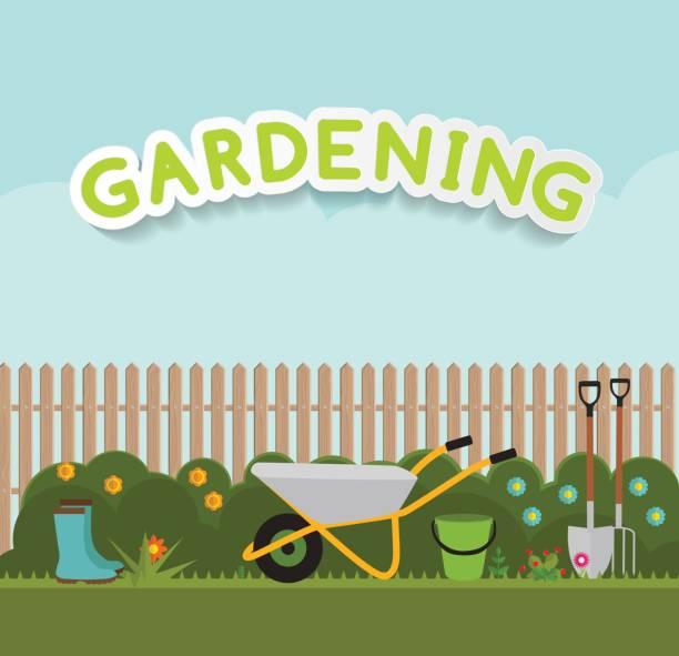 Garden Background Clipart