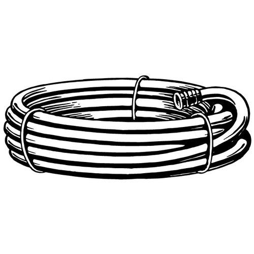 Garden hose monochrome clip art.