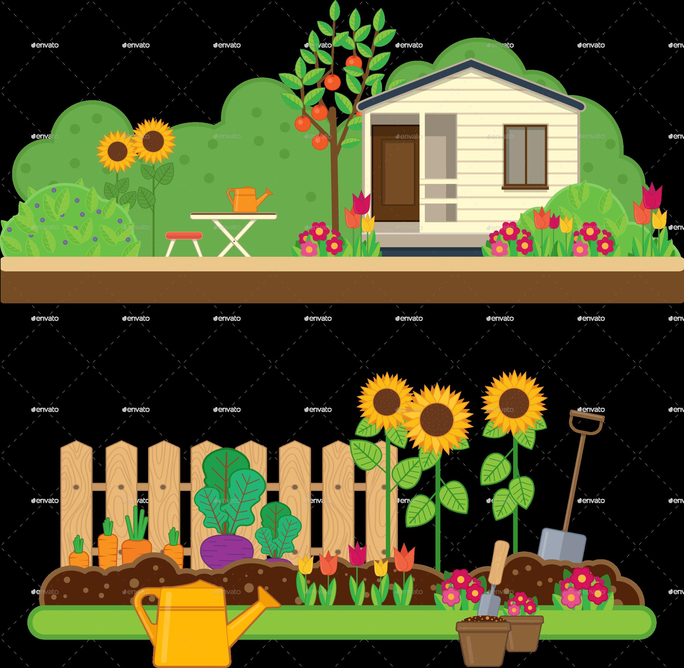Garden clipart home garden, Garden home garden Transparent.