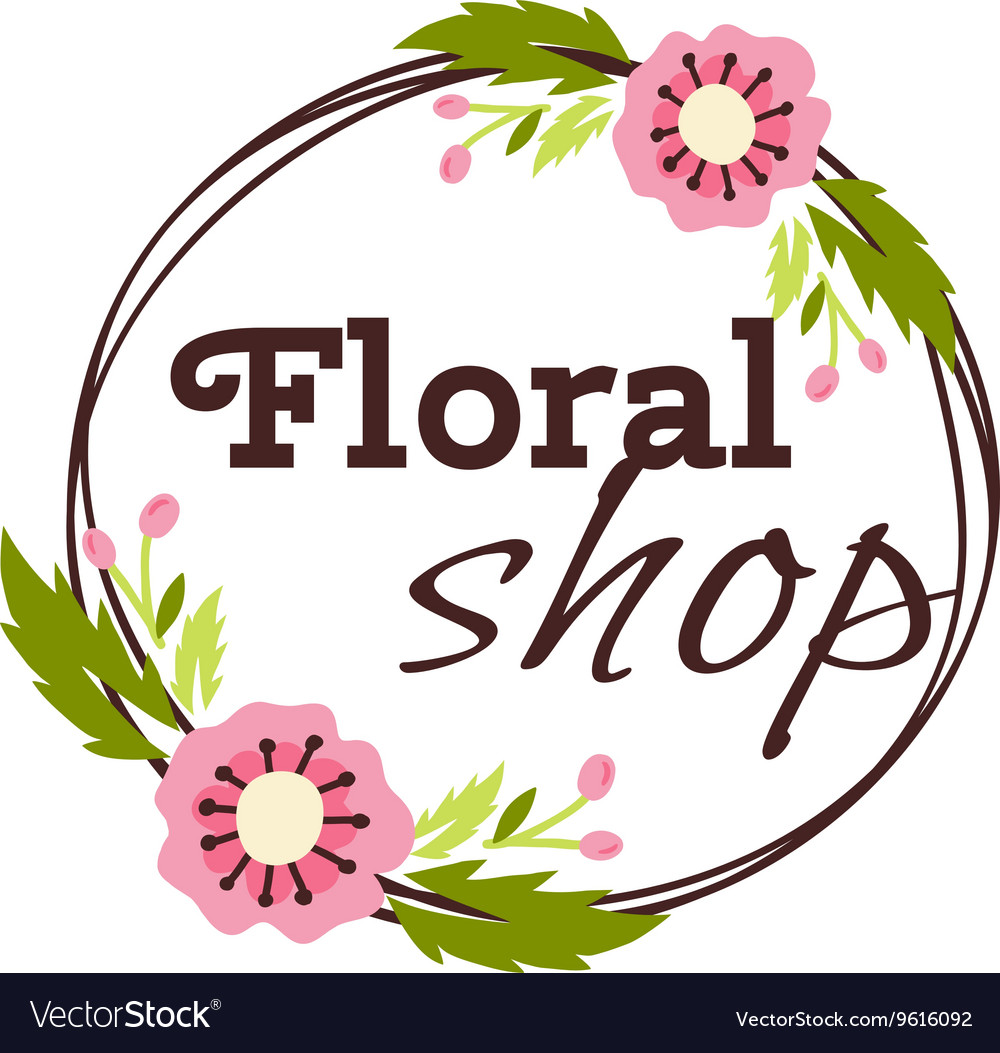 Flower shop logo.