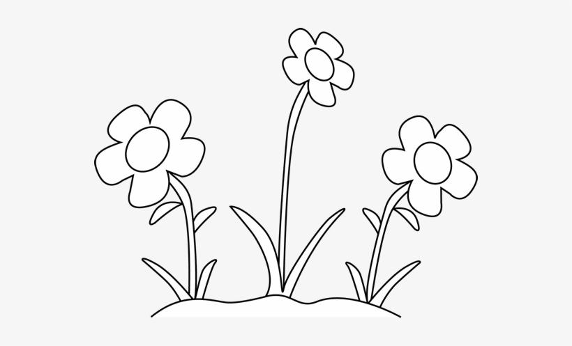 Black And White Flower Garden Clip Art Black And White.