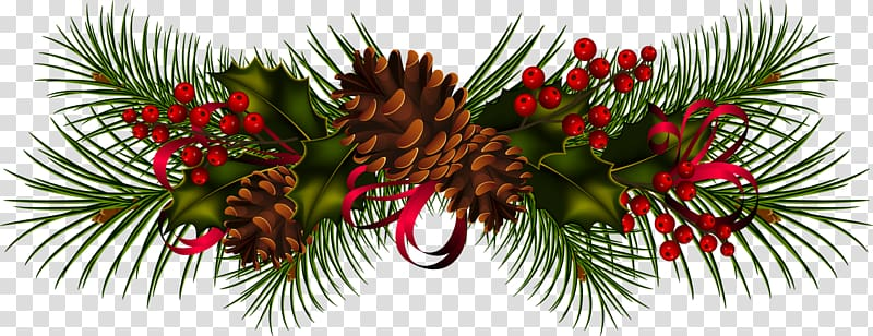 Garland Christmas Wreath , garland transparent background.