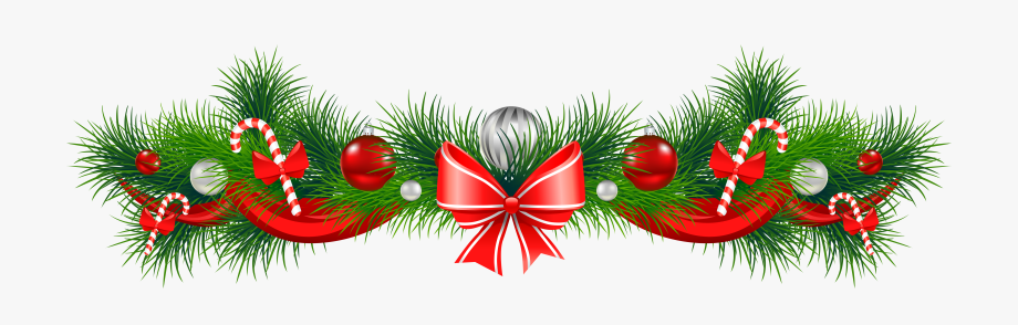 Christmas Garland Clipart , Transparent Cartoon, Free.