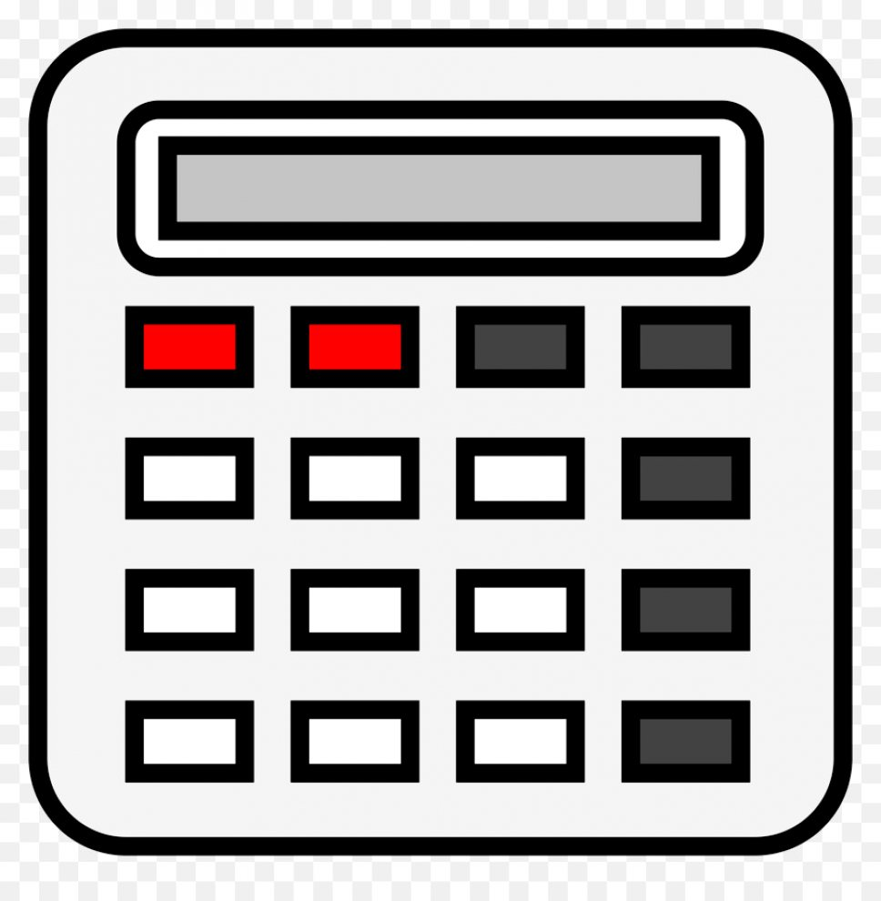 Calculator Clip Art Format Clipart Black And White.