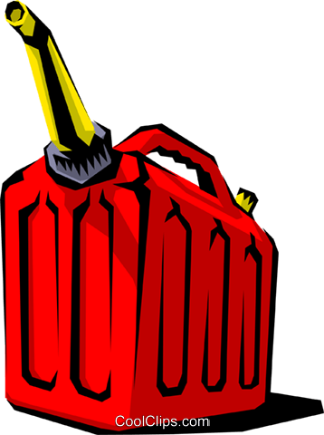 Gas can Royalty Free Vector Clip Art illustration.