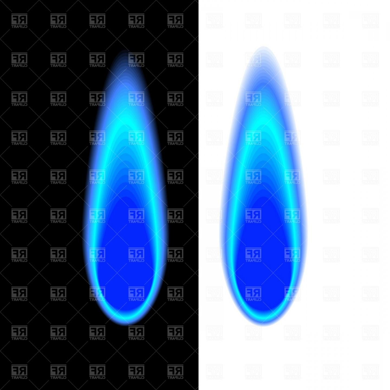 Blue Gas Flame Vector Clipart.