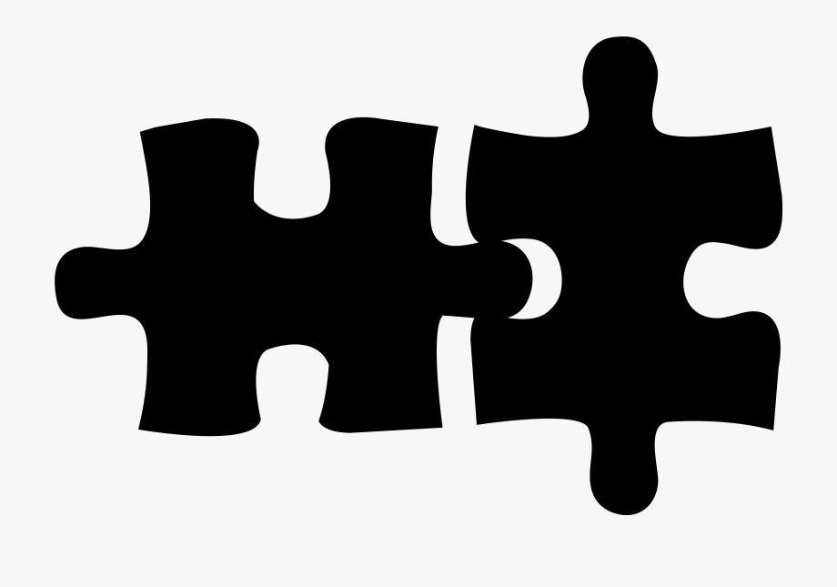 Two Puzzle Pieces Clipart.