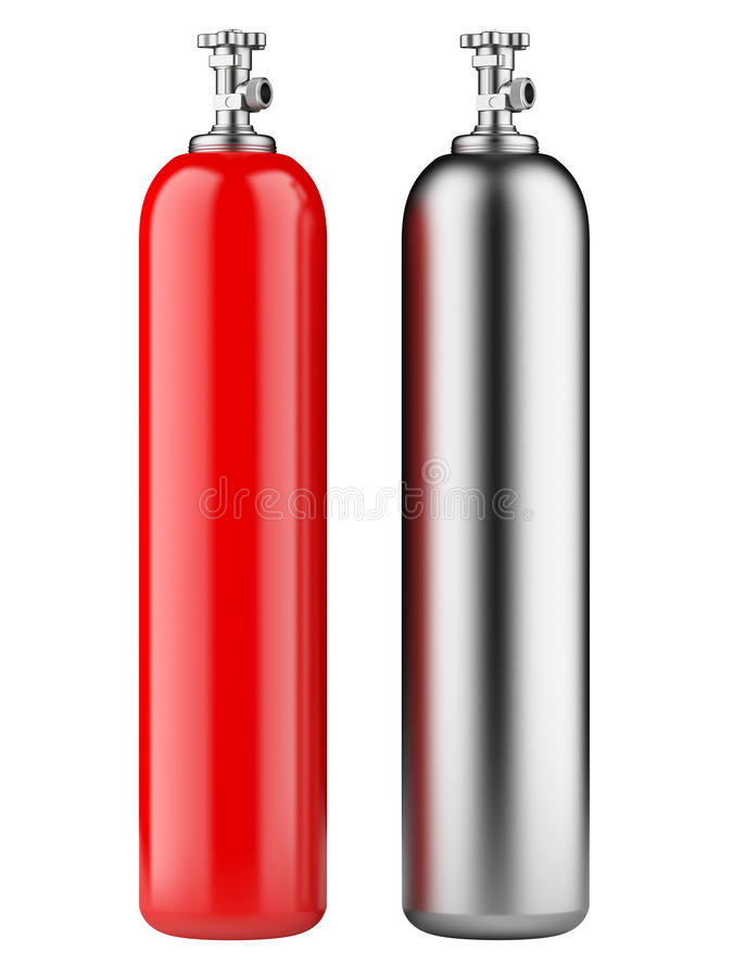 Cylinders With Compressed Gas Stock Illust #228768.