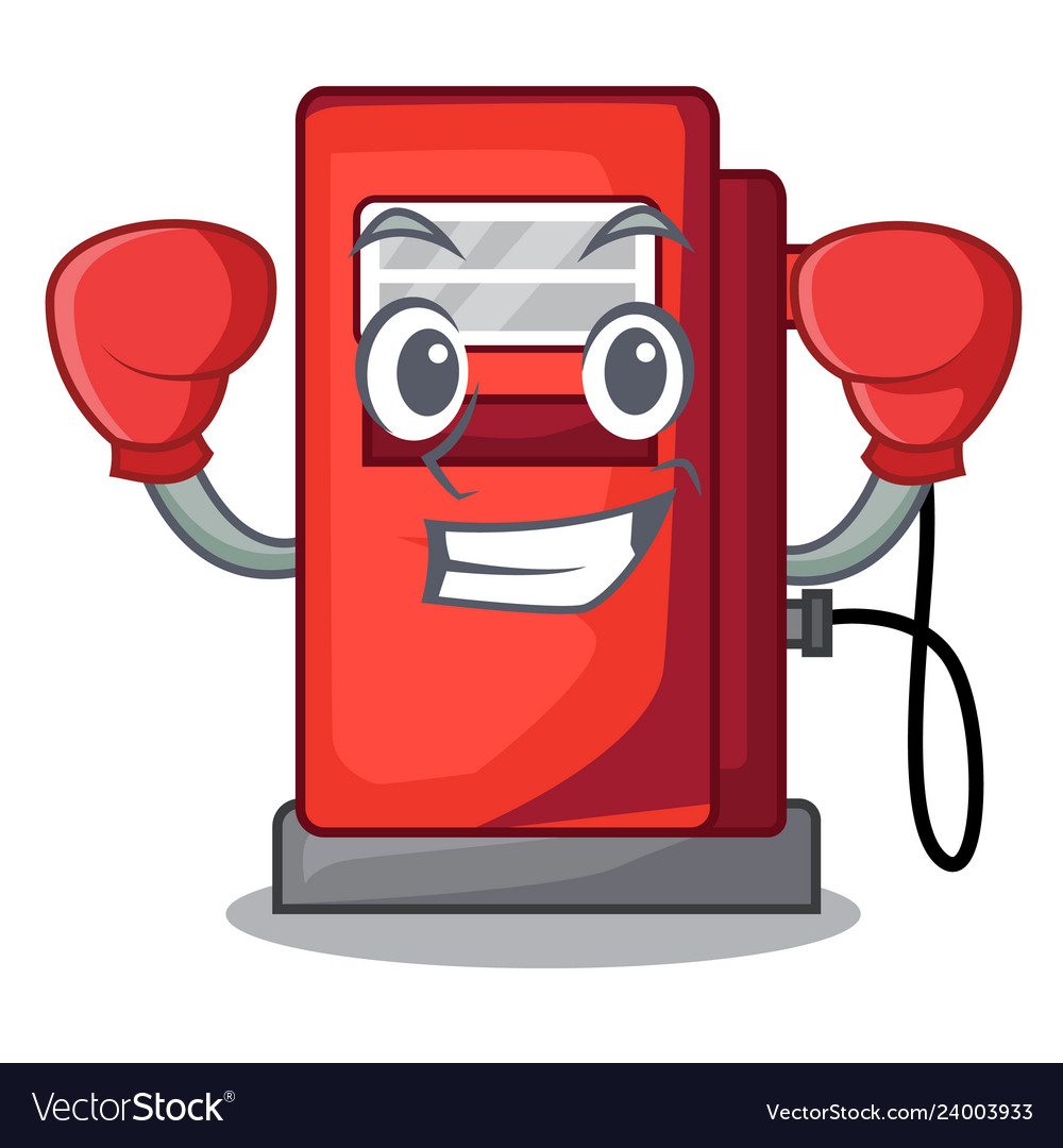 Boxing gosoline pump in the character form.