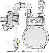 Royalty Free Commercial Gas Meter Stock Designs.