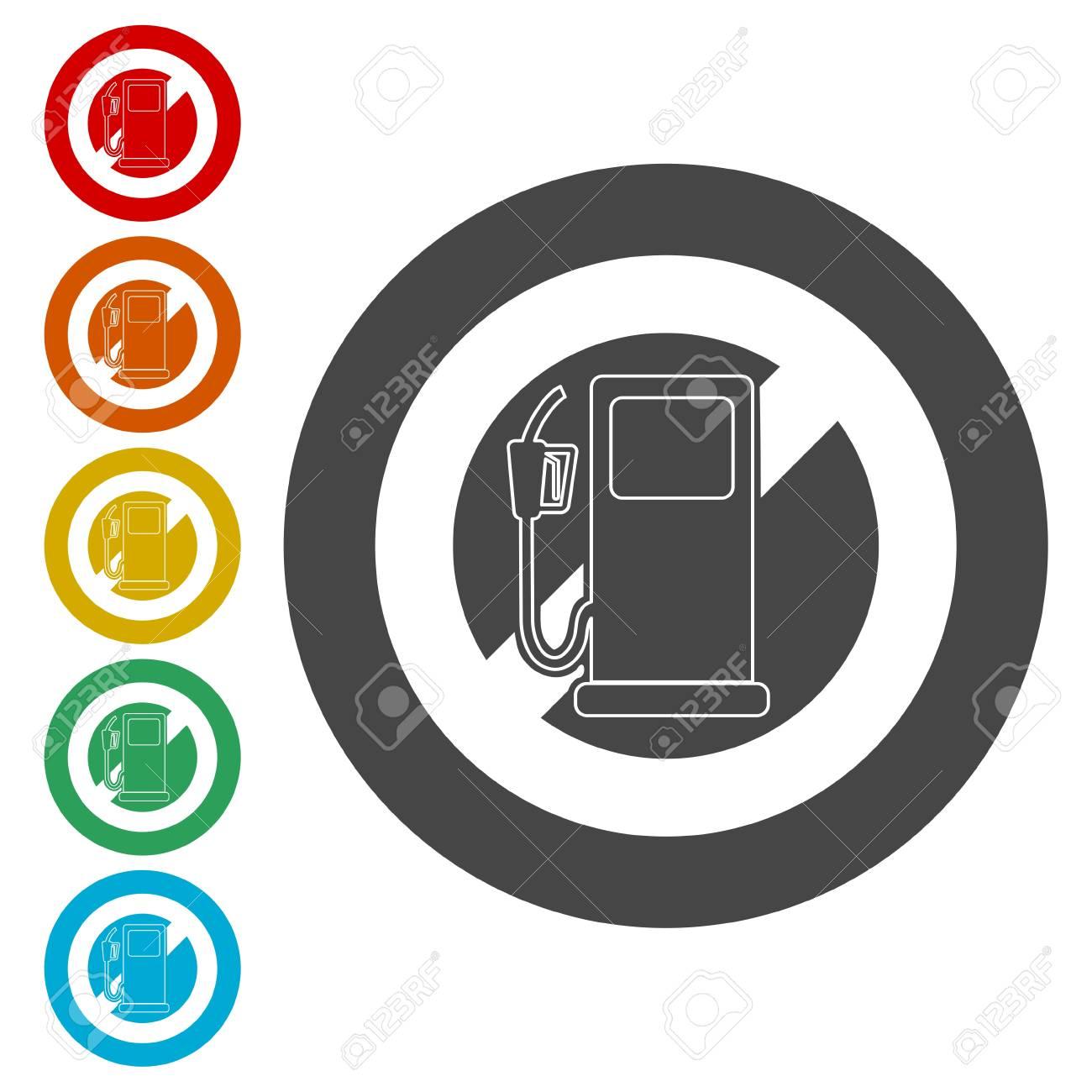 No Gas Sign, No fuel warning sign.