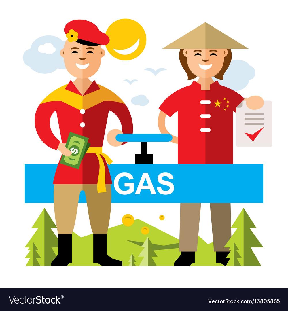 Gas pipeline russia.