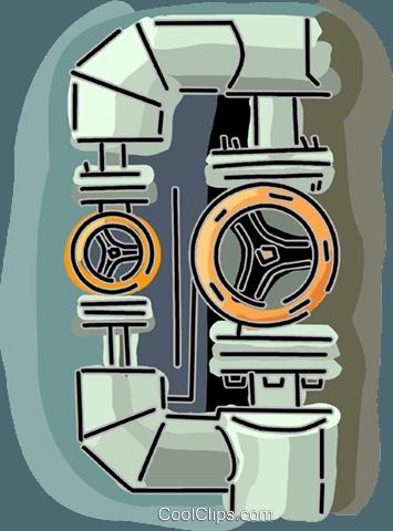 gas pipeline Royalty Free Vector Clip Art illustration.