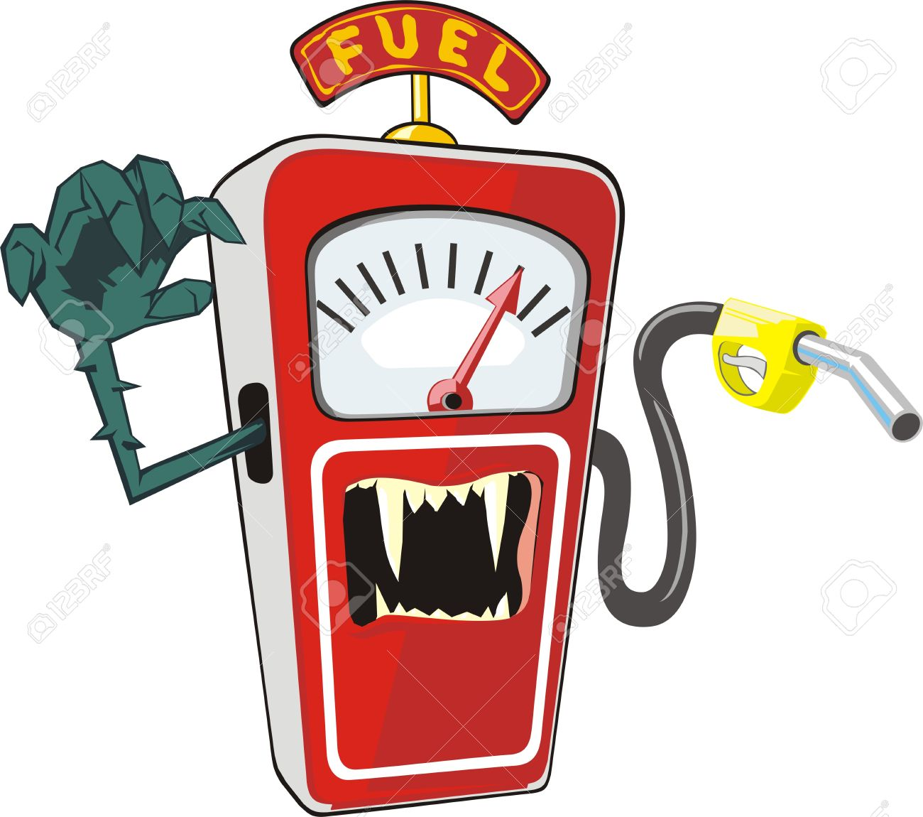 Cartoon Gas Station Clipart.