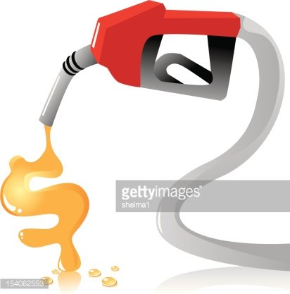Rising Gas Prices Clipart Image.