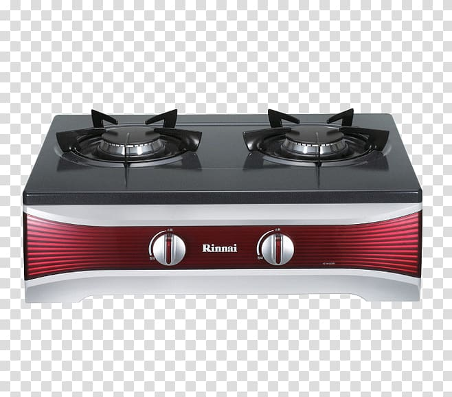 Gas stove Kitchen stove Home appliance, Red gas stove.