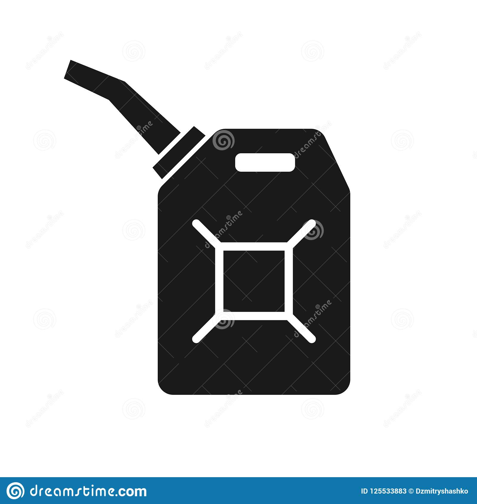 Canister of gasoline icon stock vector. Illustration of energy.