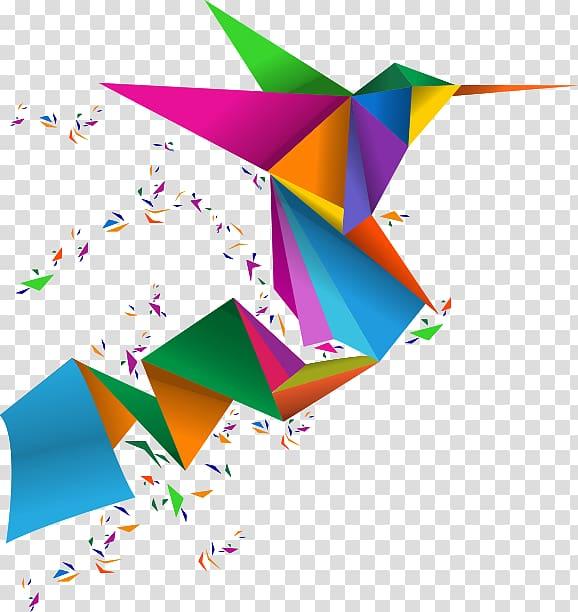 Origami Paper Triangle Afacere Imprimerie Nap.