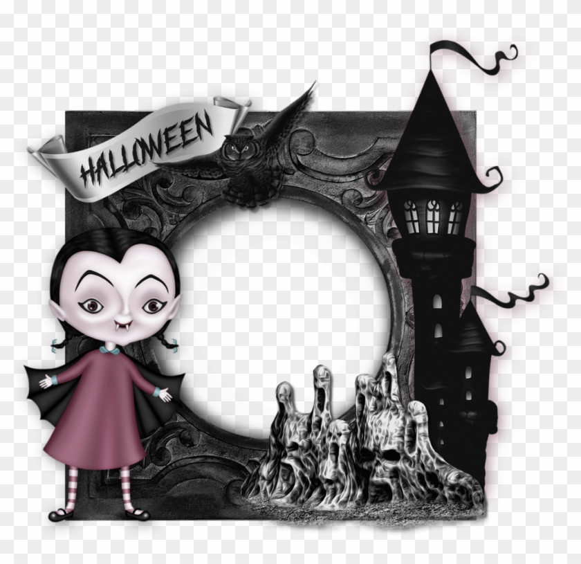 Cadre Photo Halloween, Gothique / Gothic Frame Png.