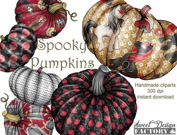 Pumpkin clipart/ halloween clipart/ squash clipart.