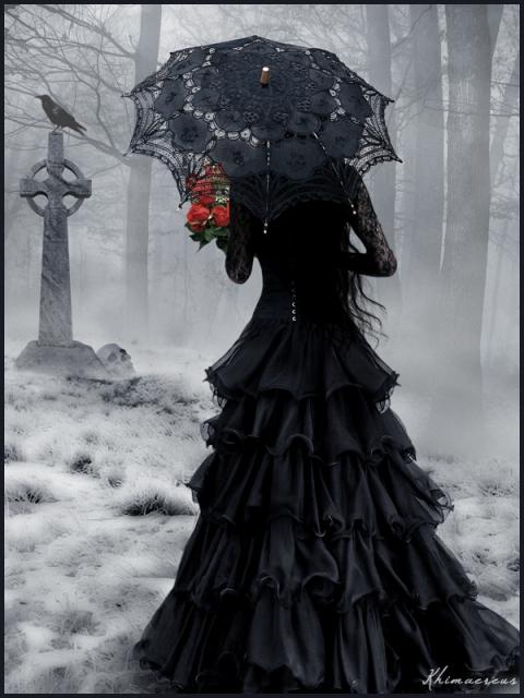 Clipart gothique avec dessin femme gothique.
