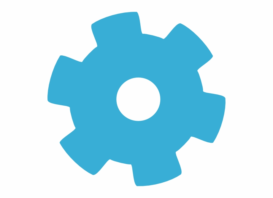 How To Set Use Blue Gear Wheel Svg Vector.