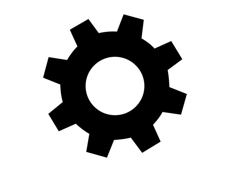 Gear Svg, Gears Silhouette Clipart Dxf Gear Vector Silhouette Cut Files  Steampunk Gear Silhouette Vector Gear Dxf Gear Clipart Svg File.