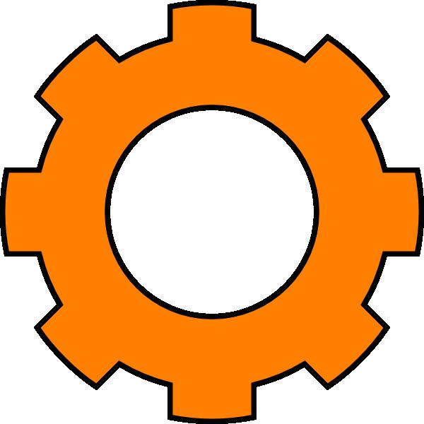 Cogs Vector Geer Gear Clipart Orange.