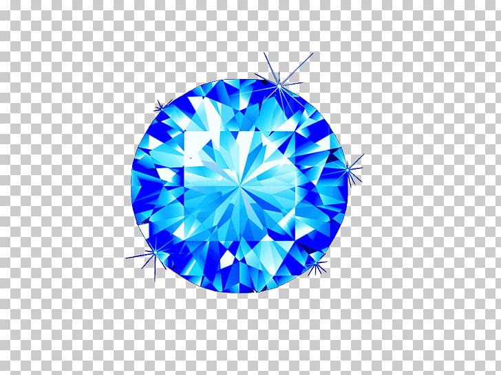 Gemstone Rhinestone Diamond Icon, Bright Blue Diamond PNG.