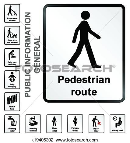 Clipart of General Information Signs k19405302.