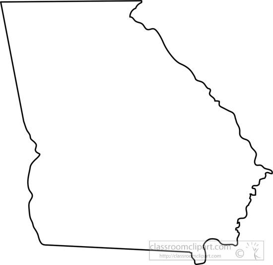 Georgia Map Clipart.