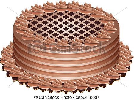 German Chocolate Cake Clipart.