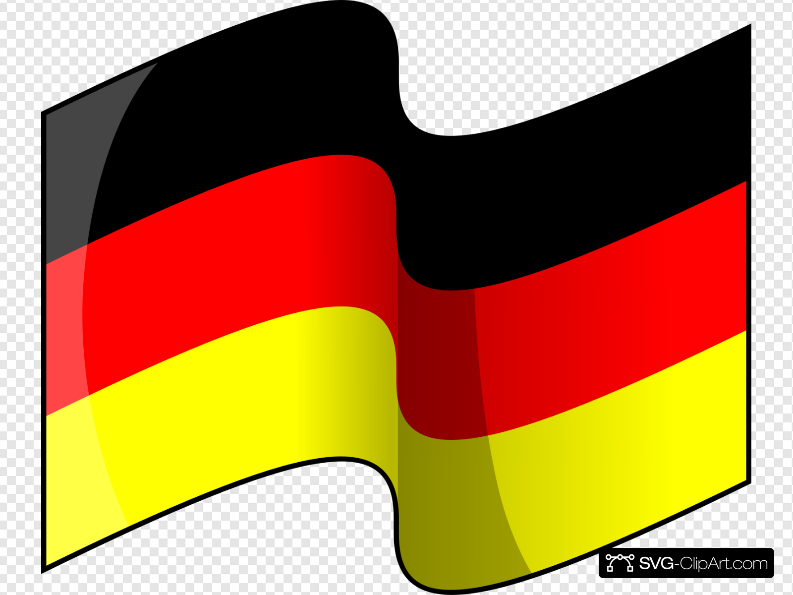 Waving German Flag Clip art, Icon and SVG.