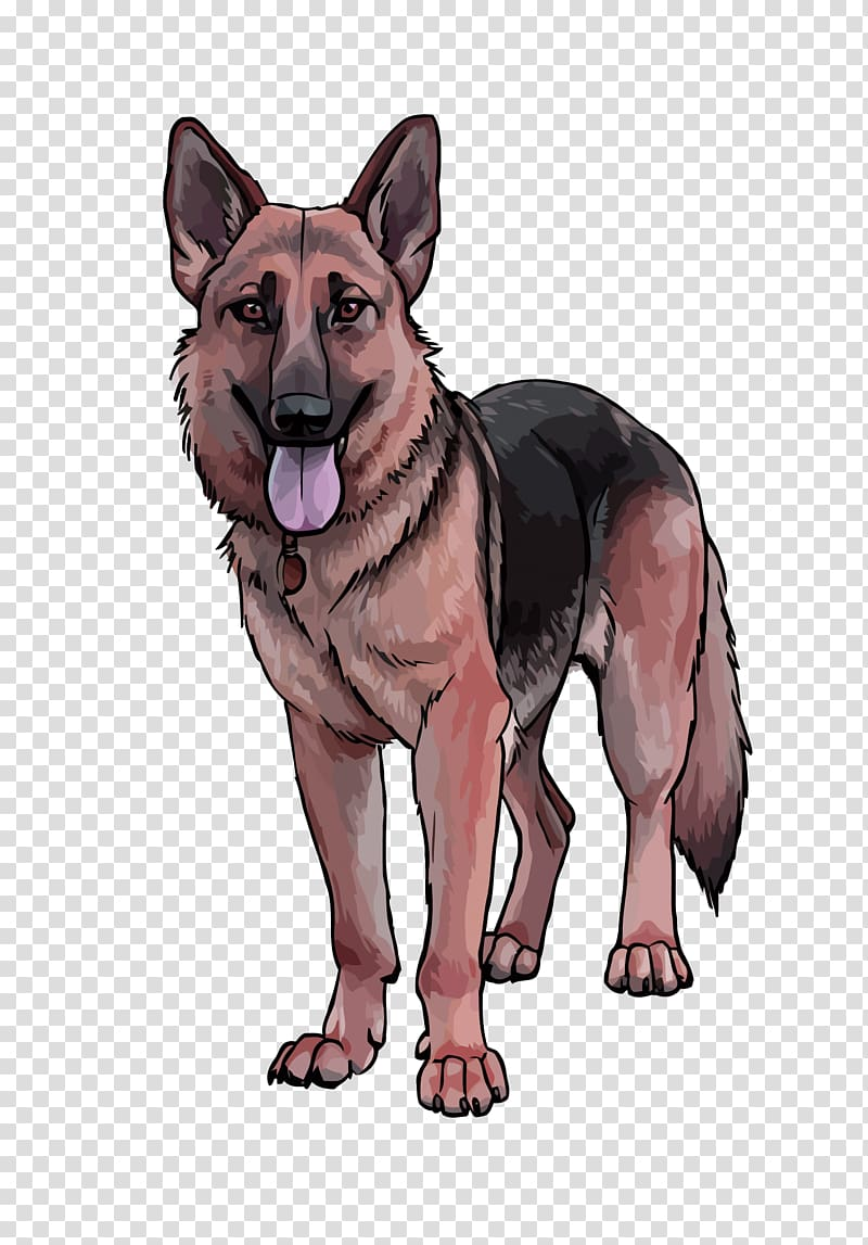 German shepherd illustration, German Shepherd King Shepherd.