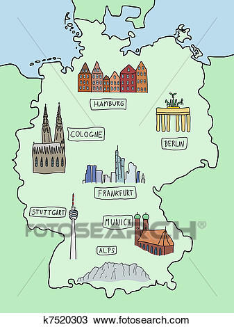 Map of Germany Clipart.