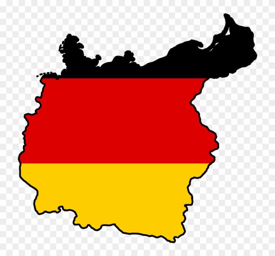 German Flag Map.