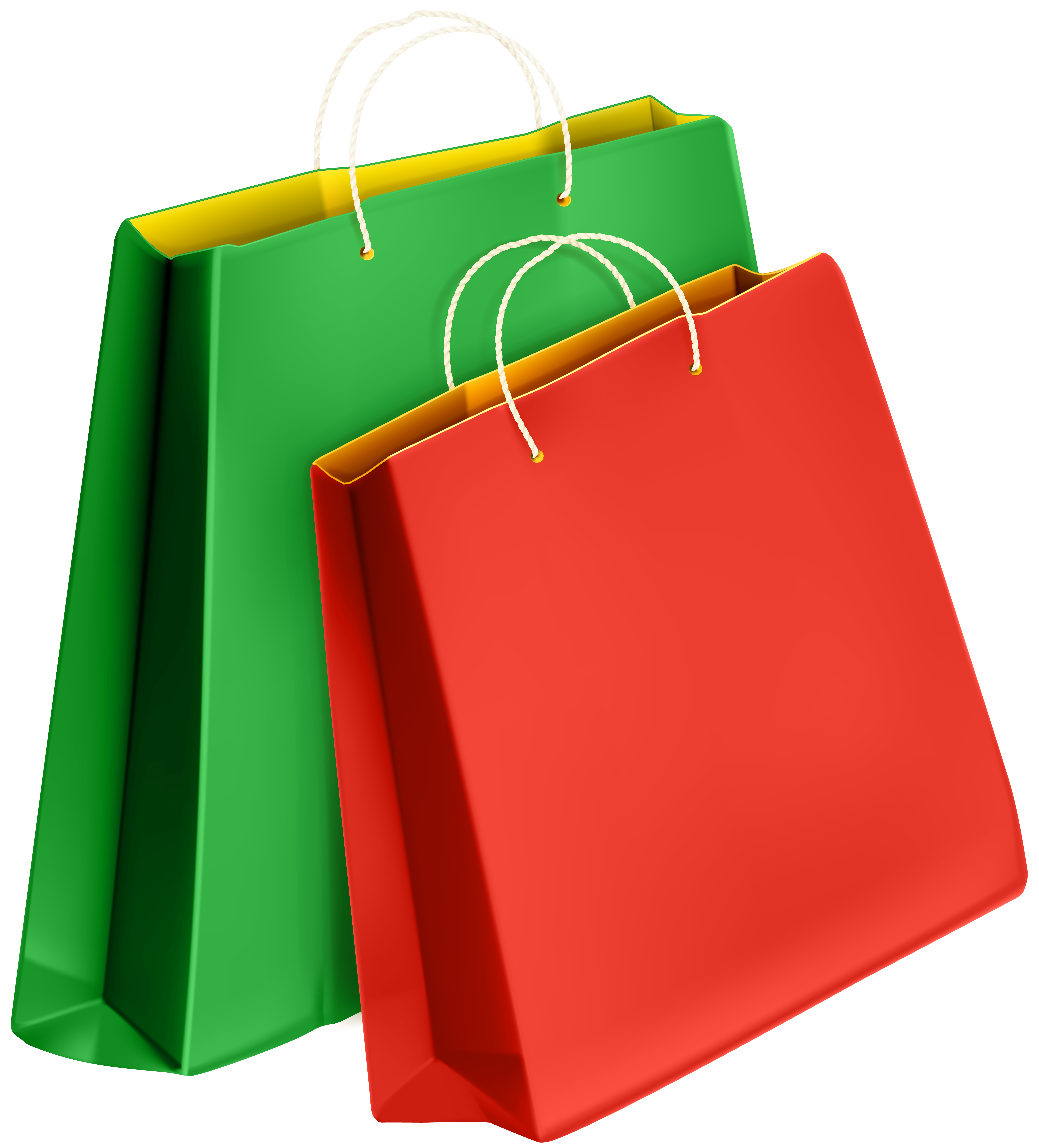 Gift Bags PNG Clip Art Image.