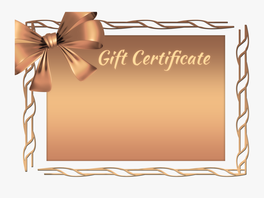 Gift Certificates Available Now , Free Transparent Clipart.