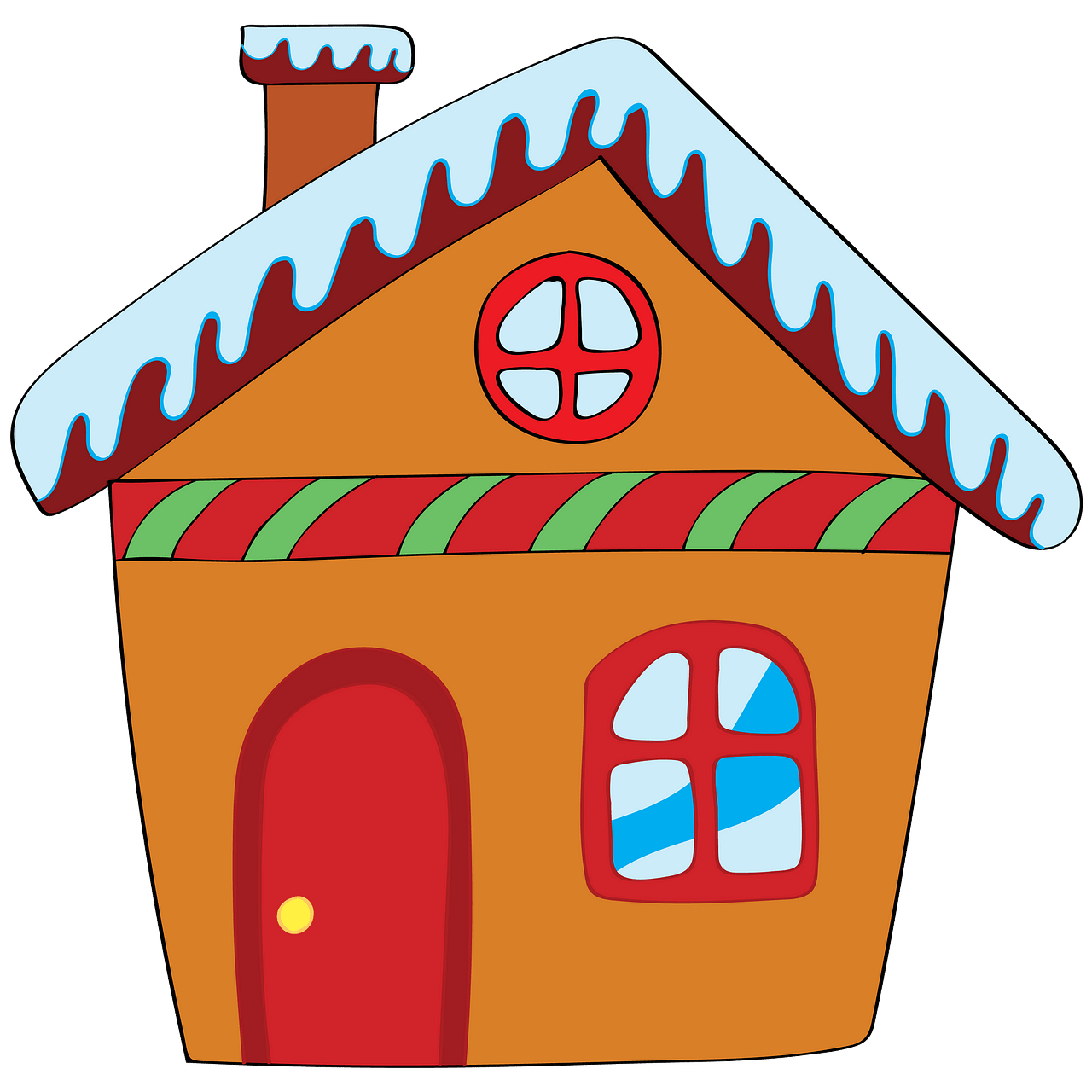 Gingerbread house clipart. Free download..