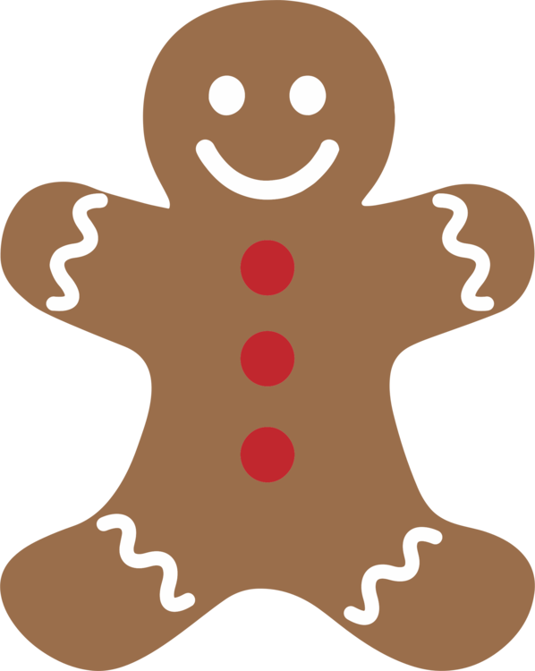 Food,Fictional Character,Gingerbread Man Vector Clipart.