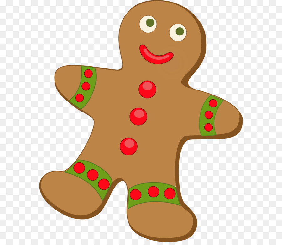 Christmas Gingerbread Man png download.