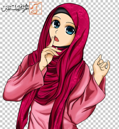 Temporary Muslim Cartoon Islam, Muslim Girl Png Clipart.