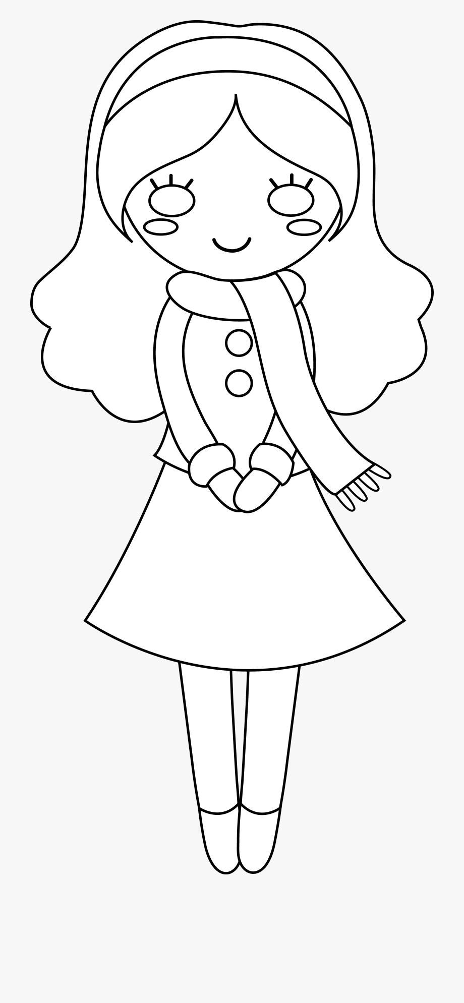 Girl Clipart Outline.