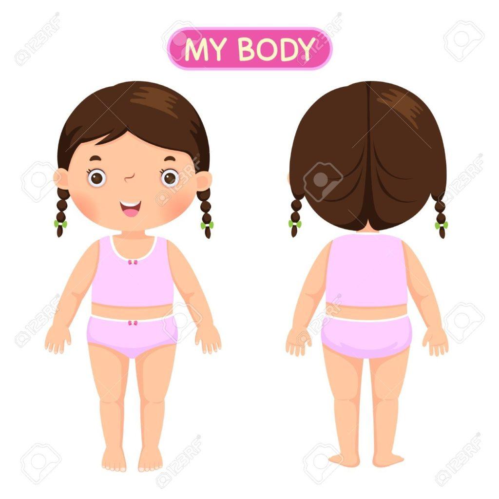 Girl Body Clipart.