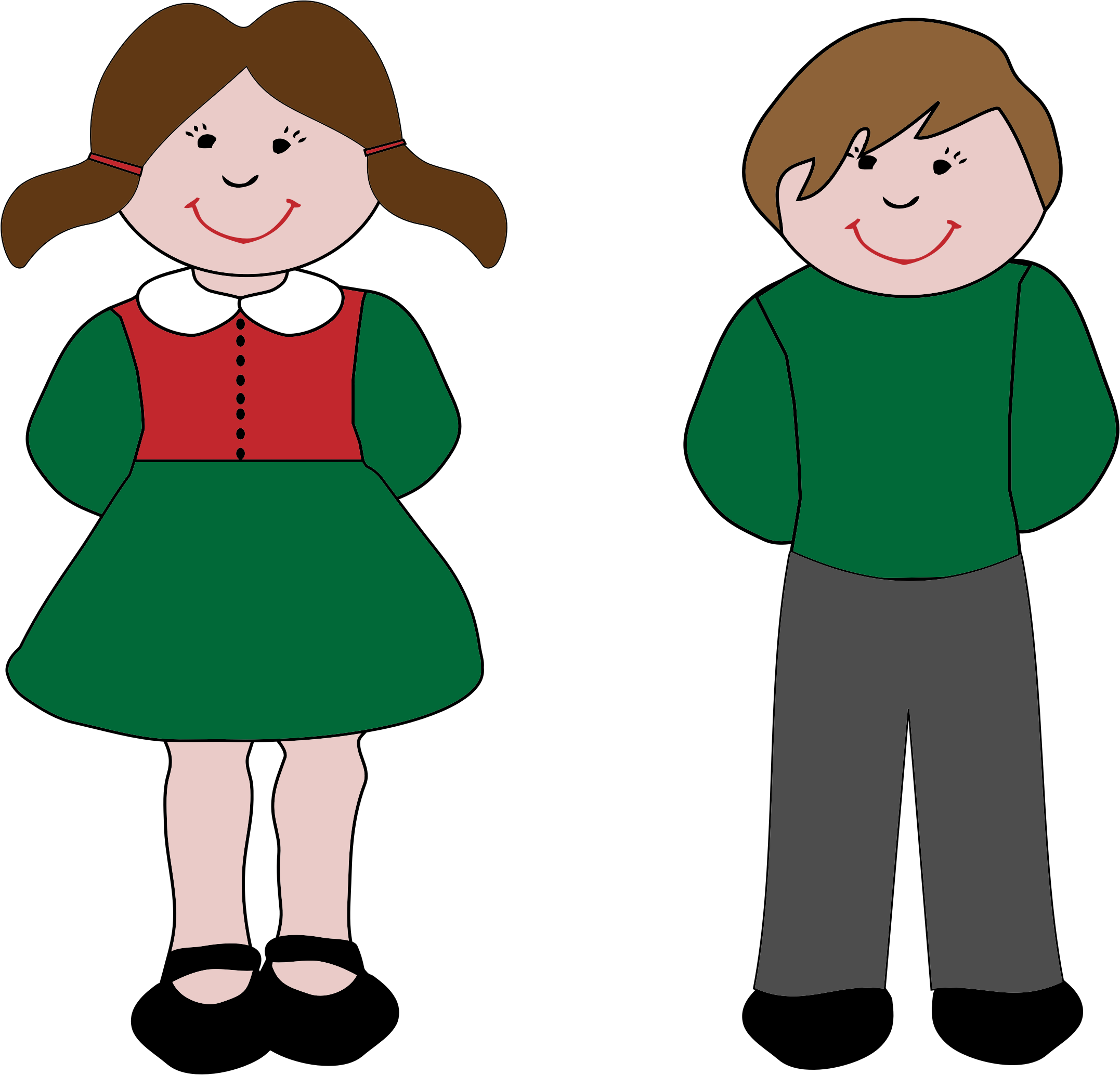 Boy And Girl Clipart Png.