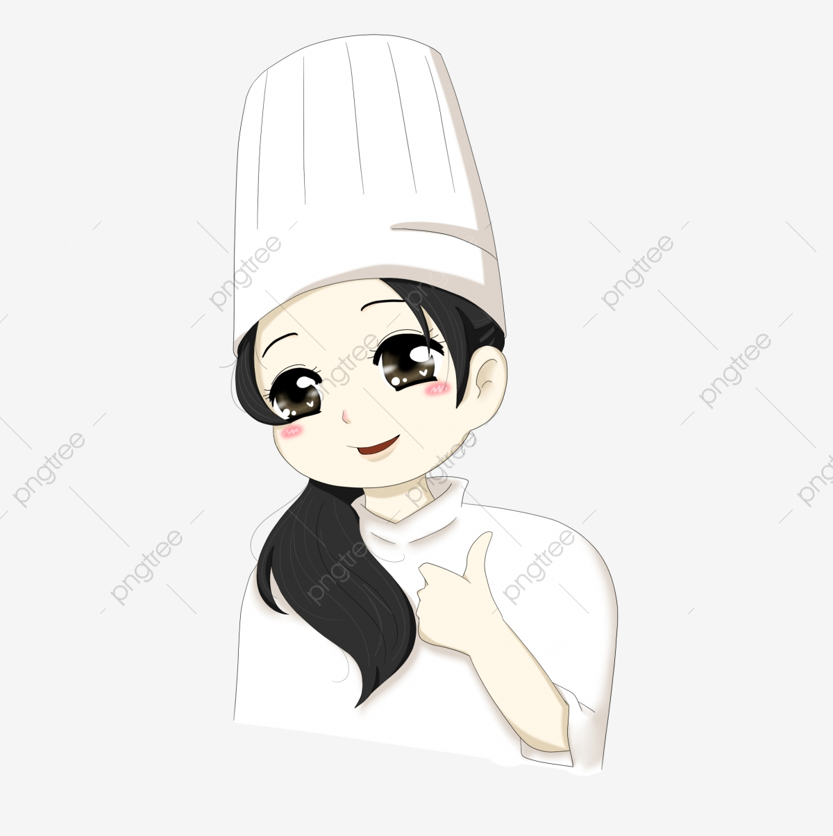 Cooking Chef Teenage Girl Chef Clothes, Single Pony Tail, Lovely.