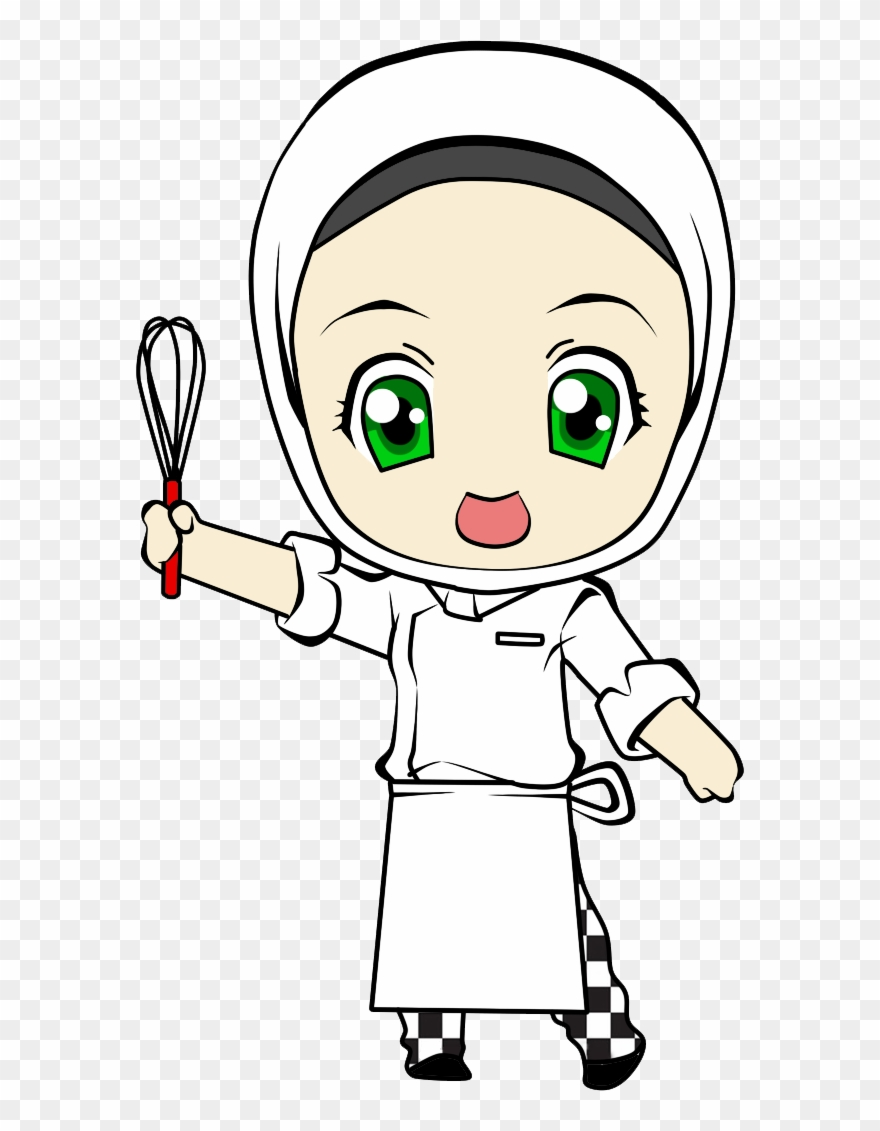 Cartoon Girl Chef.