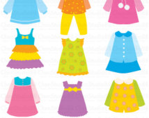 Girls Clothing Clip Art (65 ).