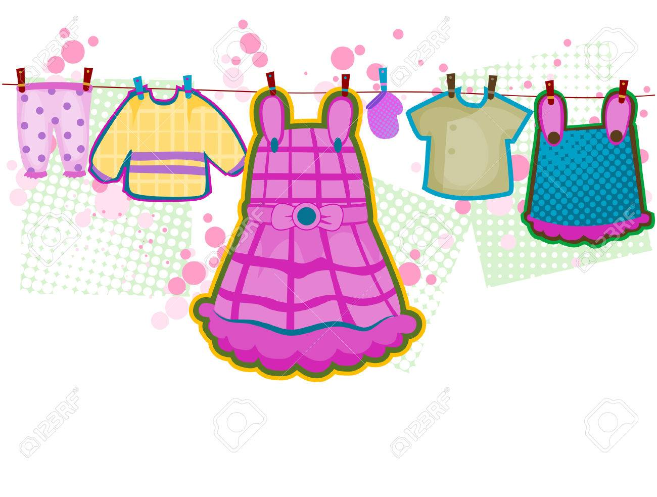 Baby Girl Clothes with Clipping Path.