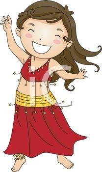 Dancing Girl Cartoon Clip Art.